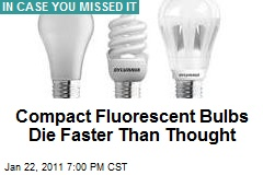 Compact Flourescent Bulbs Die Faster Than Thought