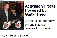 Activision Profits Powered by Guitar Hero