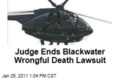 Judge Ends Blackwater Wrongful Death Lawsuit