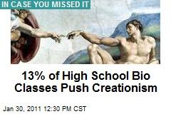 13% of High School Bio Classes Push Creationism