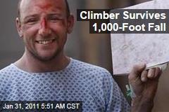 Climber Survives 1,000-Foot Fall