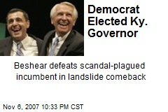 Democrat Elected Ky. Governor