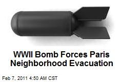 WWII Bomb Forces Paris Neighborhood Evacuation