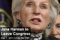 Jane Harman to Leave Congress