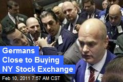 Germans Close to Buying NY Stock Exchange