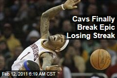 Cavs Finally Break Epic Losing Streak