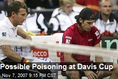 Possible Poisoning at Davis Cup