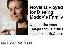 Novelist Flayed for Dissing Maddy's Family