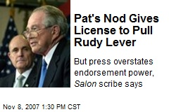 Pat's Nod Gives License to Pull Rudy Lever
