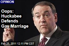 Ruth Marcus: Mike Huckabee Sticks Up for Gay Marriage, Inadvertently