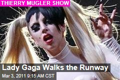 Lady Gaga Makes Fashion Debut at Thierry Mugler Paris Show (Photos)