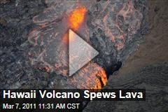 Hawaii Kilauea Volcano Spews Lava After Puu Oo Crater Floor Collapses