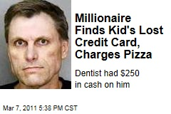 Richard Ludwig, Millionaire Dentist, Finds Student's Lost Credit Card, Charges Pizza
