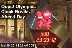 London 2012 Olympics Clock Breaks After One Day