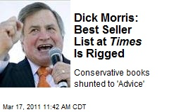 Dick Morris: Best Seller List at Times Is Rigged