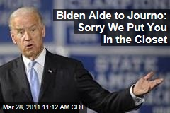 Joe Biden Aide to Reporter: Sorry We Left You in a Storage Closet