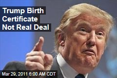 Donald Trump Birth Certificate Not the Real Deal