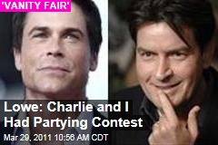 Rob Lowe 'Vanity Fair' Interview: Charlie Sheen and I Used to Have Partying Contests