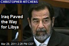 Iraq Paved the Way for Libya