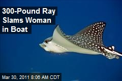 300-Pound Ray Slams Woman in Boat