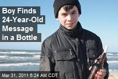 Boy Finds 24-Year-Old Message in a Bottle