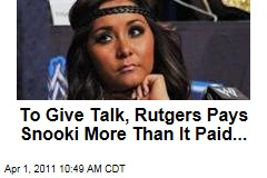 To Give Speech, Rutgers Pays Snooki More Than ... Toni Morrison, Nobel-Winning Author