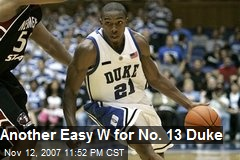 Another Easy W for No. 13 Duke