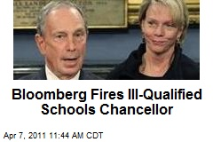Bloomberg Fires Ill-Qualified Schools Chancellor