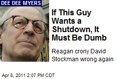 If This Guy Wants a Shutdown, It Must Be Dumb