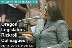 Oregon Legislators Rickroll Colleagues