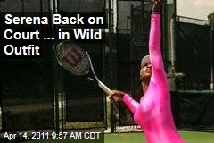 Serena Williams Back on Tennis Court ... in Hot Pink