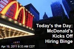McDonald's National Hiring Day Begins