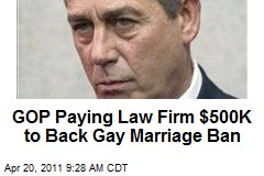 GOP Paying Law Firm $500K to Back Gay Marriage Ban