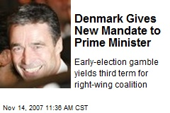Denmark Gives New Mandate to Prime Minister