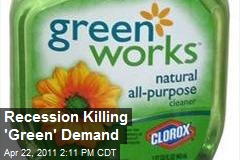 Recession Killing 'Green' Demand