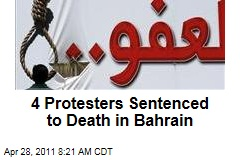 Bahrain Protests: 4 Shiite Protesters Sentenced to Death