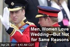 Men, Women Love Wedding—But Not for Same Reasons