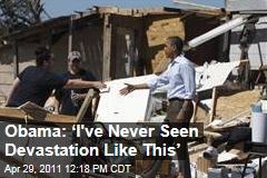 President Obama Tours Tornado Damage in Alabama, Promises Help