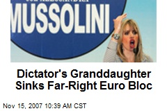Dictator's Granddaughter Sinks Far-Right Euro Bloc