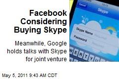 Facebook Considering Buying Skype