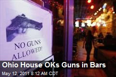 Ohio House OKs Guns in Bars