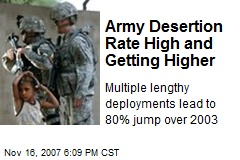 Army Desertion Rate High and Getting Higher