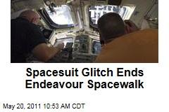 Spacesuit Glitch Ends Space Shuttle Endeavour Spacewalk