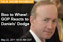 Sunday Morning Talk Shows: GOP Reacts to Mitch Daniels' Decision Not to Run for President