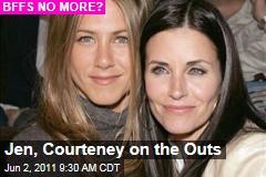 Jennifer Aniston, Courteney Cox Friendship Hits the Skids