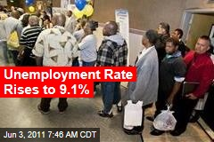 Unemployment Rate Rises to 9.1%; Employers Hire Just 54K New Workers