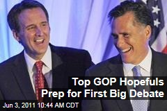 Mitt Romney, Michele Bachmann, Tim Pawlenty, Other 2012 Hopefuls Prep for New Hampshire Debate