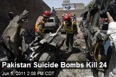 Pakistan Suicide Bombs Kill 24