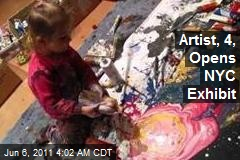 Artist, 4, Opens NYC Exhibit