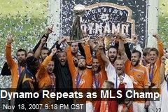 Dynamo Repeats as MLS Champ
